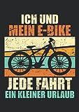Notizbuch A5 kariert mit Softcover Design: E-Bike Geschenk Spruch Vintage Fahrrad Witz Rente Geburtstag: 120 karierte DIN A5 Seiten