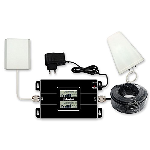 Lintratek 3G 4G LTE Cell Phone Signal Booster Amplifier Repeater 850MHz 1900MHz Antenna Set for AT&T, Verizon and T-Mobile
