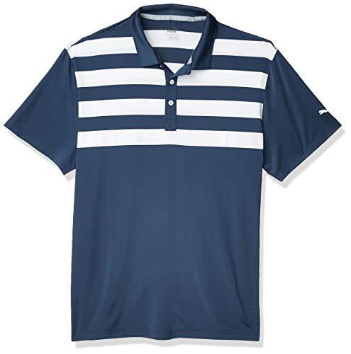 PUMA Golf 2020 Mens Pars Stripes Polo Dark Denim Large