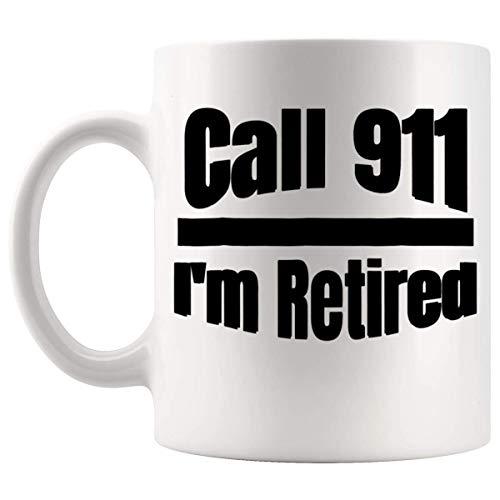N\A Jubilados Jubilados - Oficial de policía Jubilado Cop Taza de Regalo de jubilación Taza 11Oz - Jubilado Qué Obtener su Jefe para la Camiseta de jubilación
