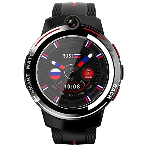 LKM Android Smart Watch Men 1.39 Pulgadas Screen AMOLED Screen WiFi 4G SmartWatch Women Dual Cámara Llamadas Llamadas Detachable Banda,B,1+16G