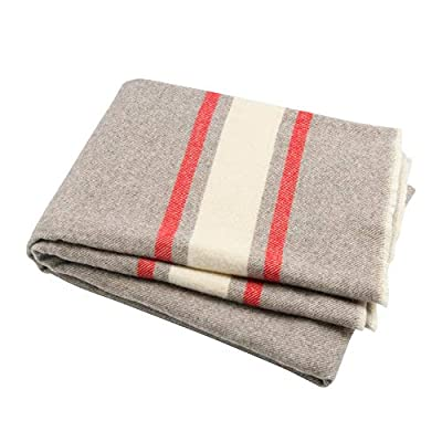 Winthome Luxury Extra Soft Wool Blanket Throw, Suitable for Sofa,Chair or Bed,51inch x 66.5inch(Grey