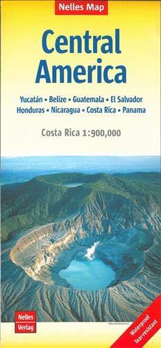 Nelles Map Central America 1:1 750 000: Yucatán - Belize - Guatemala - El Salvador - Honduras - Nicaragua - Costa Rica - Panama. Mit Costa Rica 1 : 900 000