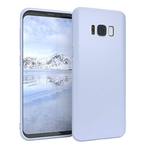 EAZY CASE Handyhülle Silikon mit Kameraschutz für Samsung Galaxy S8 in Himmelblau Blau, Ultra dünn, Slimcover, Silikonhülle, Hülle, Softcase, Backcover