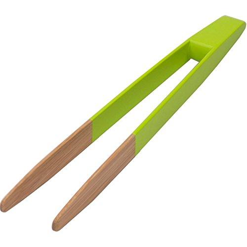 Pebbly Pince à Toast aimantée, en Bambou, Vert Citron, 24 cm