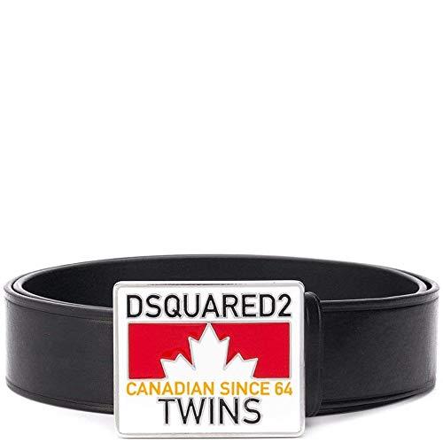DSQUARED2 Logo plaque buckle leather belt