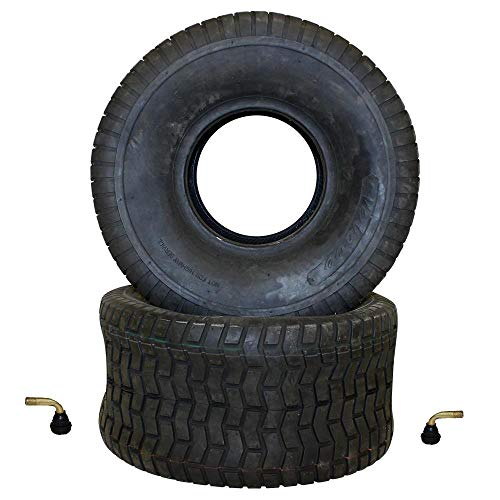 Reifen Satz für Rasenmähertraktor 2x Reifen 20x10-8 TL schlauchlos inkl. 2x Ventil Rasentraktor Rasenmäher Aufsitzmäher