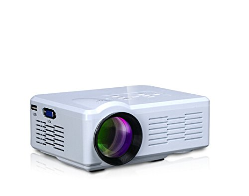 Best to Buy Newest 2015 1300Lumens LCD LED HD Video 3D 1080P Home Theater Mini TV Projector Proyector Beamer Projetor,Support HD Video Games TV Movie TXT Music Pocket Size Projector -White