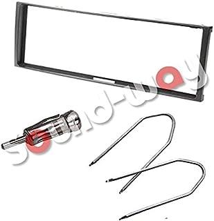 Sound-way Kit Montaggio Autoradio, Mascherina 1 DIN, Adattatore Antenna, Chiavi di Smontaggio, compatibile con Renault Meg...