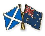 Anstecker mit Flagge von Schottland und Australien, Freundschaftsflagge, Souvenir, hergestellt in Schottland
