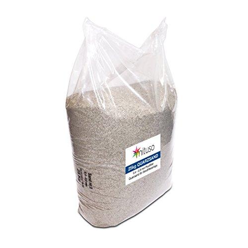 mituso Quarzsand, Bausand, Sand für Filteranlagen, 25kg