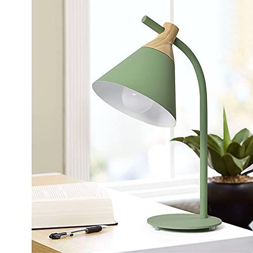 Chao Zan Lámpara de sobremesa Simple Neordic,E27 max 1x60W Lámpara de sobremesa para lámparas Lámpara de cabecera / dormitorio / lectura metal / madera, sin bombilla (verde)