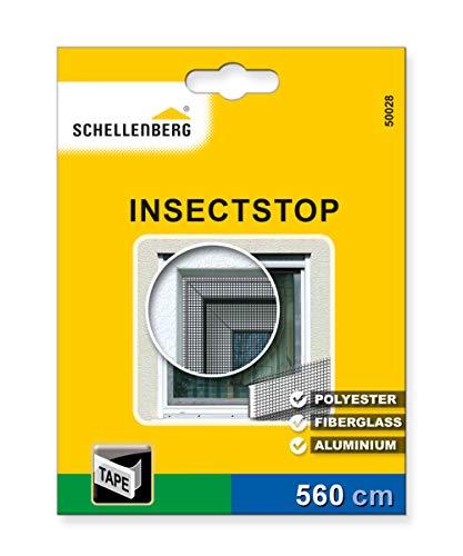 Schellenberg 50028 Befestigungsband Transparent für Fliegengitter aus Polyester, Fiberglas und Aluminium (5,6 m Länge)