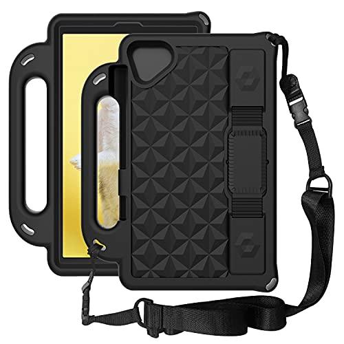 ZHANGHUI Funda protectora para tablet Lenovo Tab M8 TB-8505 (8 pulgadas), ligera, a prueba de golpes, para niños, de cuerpo completo, EVA, con asa y correa para el hombro, color negro
