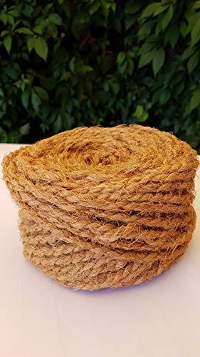 Kokosseil 7 mm – Baumanbinder aus Kokosfaser – ungefärbte Naturfaser – 50 m - 3