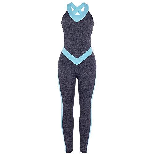PQXOER-SP Trainingskleidung Damen Enge rückenfreie Yoga Fitness Jumpsuit Yogahosen (Größe : S)