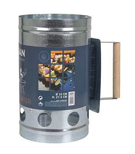 No Label 8192550Kohlestarter Silber 16x 27,5cm, Uni, 8192550, Silber, 16 x 27,5 cm