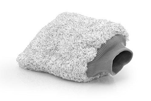 ginoclean® Mikrofaser Autowaschhandschuh besonders sanft, saugstark und schonend I Auto Waschhandschuh für Autowäsche und Autopflege I Auch als Felgenhandschuh geeignet.