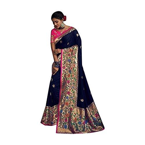 ETHNIC EMPORIUM 7620 - Camicetta integrale da donna, in seta, per matrimonio, stile indiano, Sari, 7620, lunghezza 6,25 m, come mostrato