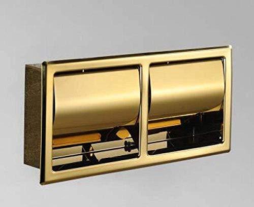 Nfudishpu Papierhandtuchhalter Tissue Holderswall Mounted Badezimmer Edelstahl Gold Toilette Toilettenpapierhalter Tissue Holder Telefonhalter Badzubehör @ Double_Gold