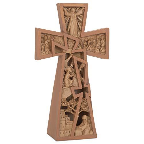 Dicksons Stages of Christ Easter - Mesa de piedra de resina con cruz (8 x 6 cm)