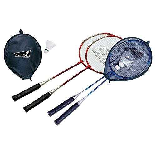 Palm Set Badminton Bambini 2 Racchette con volano 2 Pezzi, con Fodera Inclusa Colori Assortiti