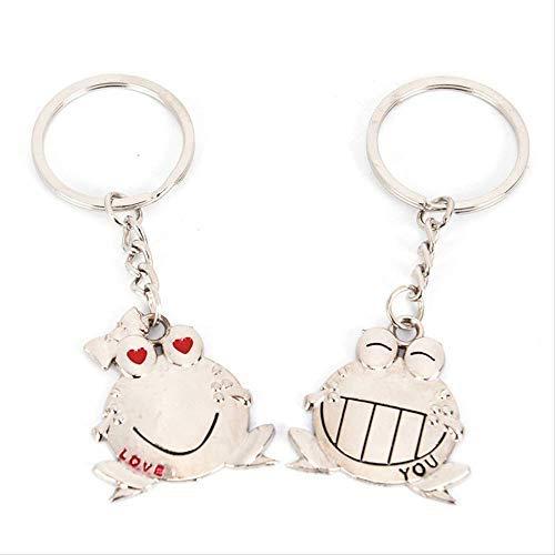 1 par Love You Big Mouth Frog Llavero Llavero Regalo del Dia de San Valentin Amantes romanticos Llavero de Pareja Llavero