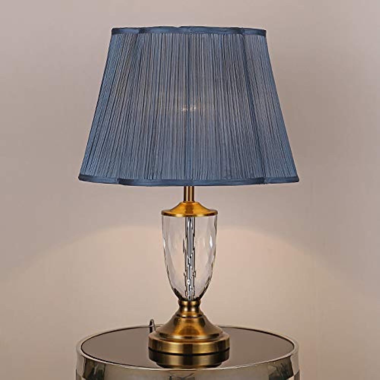 Tischleuchte Nachttischlampe Schreibtischleuchte Lampe Moderne europische K9 Kristall Nachttischlampe blau Tischlampe,für Schlafzimmer Wohnzimmer