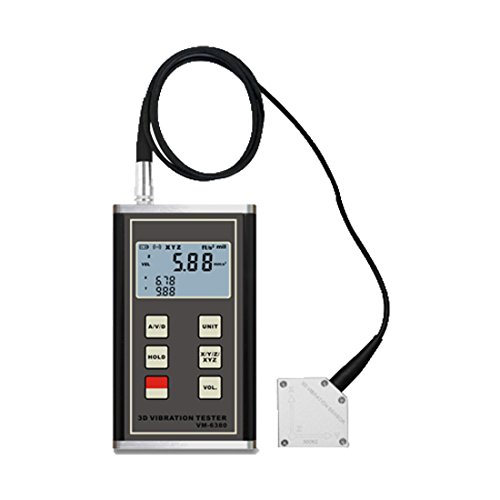 TR-Z-VM-6380 3-Achse 3D Digital Schwingungsmesser Vibrationsmessgerät Piezoelektrischer Accelerometer 10Hz~10KHz Vibrometer