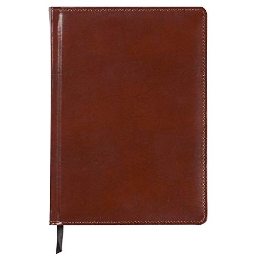 C.R. Gibson Large Brown Leather Journal Notebook, 6.5'' x 9'', 192 Pages