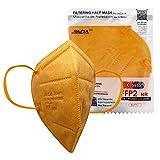 ASTORMEDIC Mascarillas FFP2 Jiada- Homologadas CE- para Adultos [20 unidades] Mascarilla de Protección con 5 capas. Alta eficiencia filtración bacteriana. Colores. Envase Individual (Amarilla)