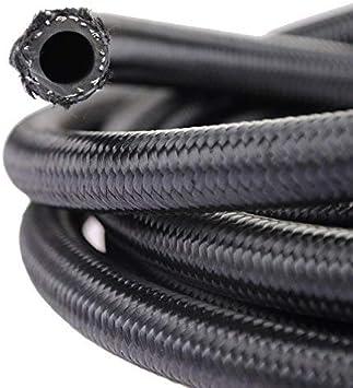 "theBlueStone -4AN -6AN -8AN -10AN Braided Fuel Line Hose 10FT -6AN Nylon Braided for 3/8"" Tube Size: image"