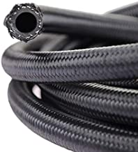 theBlueStone -4AN -6AN -8AN -10AN Braided Fuel Line Hose 10FT -10AN Nylon Braided for 5/8