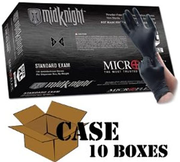 Microflex Black MidKnight Nitrile Gloves Case Size X Large