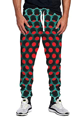 80s Women Men Jogging Pants Funny 3D Optical Illusion Graphic Rave Sweatpants Volleyball Running Yoga Trousers Outfit Grey L