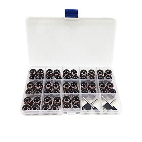 ULTECHNOVO 104 Stks Nagel Boren Nagel Gereedschapskist Set Draagbare Slijpkop Kit Cuticula Schoon Tool Manicure Boren Tool Voor Nagel Polijsten (Donkerrood)