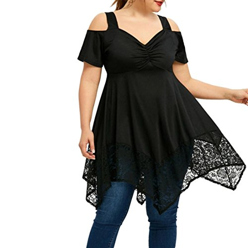 FAMILIZO Camisetas Mujer Tallas Grandes XL~5XL Verano