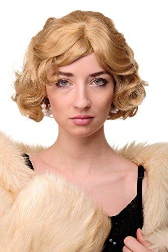 WIG ME UP - Perruque dame années 20 swing carré ondulé mélange de blonds env. 25 cm A4002-611B