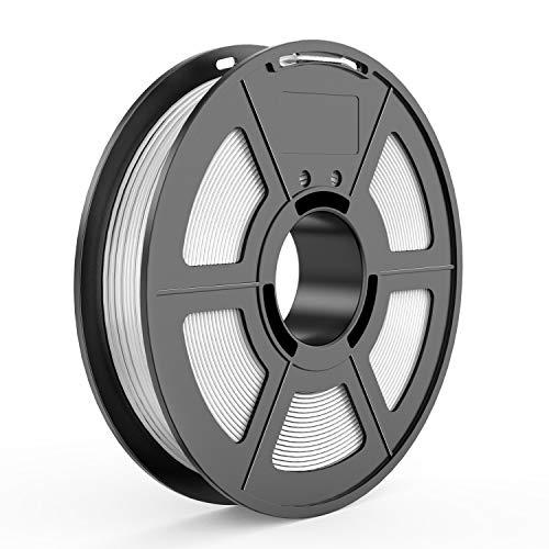 TECBEARS TPU Filamento de Impresión 3D, 1.75mm Blanco, Precisión Dimensional +/- 0.02 mm, 0.5kg Carrete, 1 Paquete