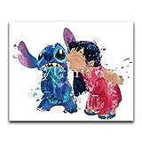 SBNKYQSL 5d DIY Diamant malerei kreuzstich Karikatur Graffiti romantische Liebe mosaik Bunte niedlichen Tier voller diamanten Stickerei Kunstwerk 30 * 40 cm h