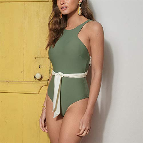 GUOZI Bikini Print Badpak Vrouwelijke Backless Badmode Vrouwen Hoge Taille Halter Badpak Retro Zwempakken