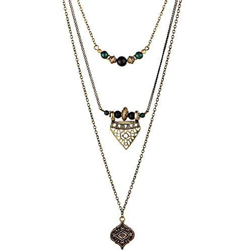 Handmade Triple Chain Necklace Ethnic Style, Multi Layers Necklace HS21254