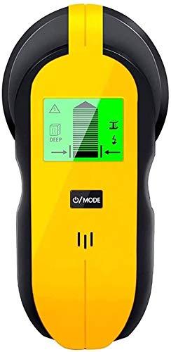 Ortungsgerät, 4 in 1 Multifunktions Wand Scanner Detektor für Metall, Rohre, Holz, Stud Finder Leitungssucher mit HD-LCD-Display, Stromleitung, AC Spannungsführenden Scanner Detektor