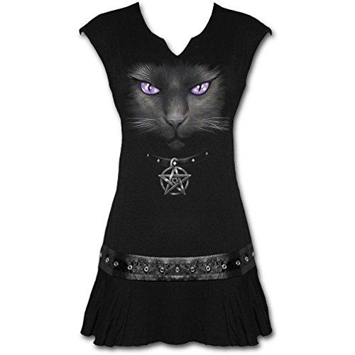 Espiral–Black Cat Vestido con Tachuelas Negro 36/38 (Ropa)