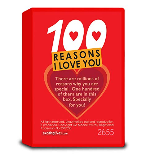 100 Reasons I Love You: Romantic Gift Box with Love Messages For Couples Anniversaries, Valentines