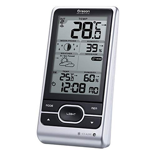 Oregon Scientific BAR208HGX Stazione Meteo Wireless, Argento, 94x51x182,5 mm