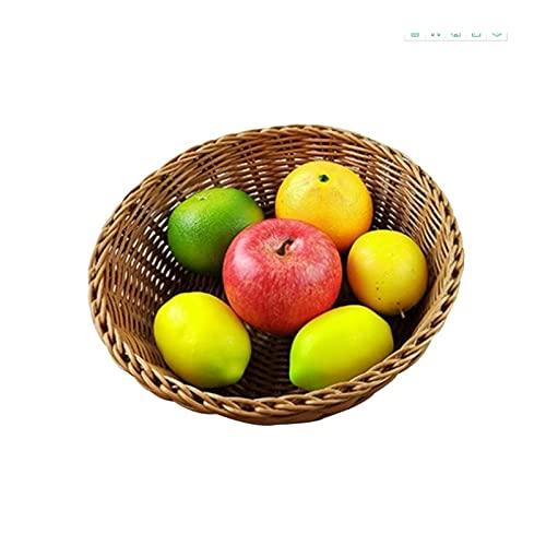 WBFN Cesti portaoggetti Gift Hampers Vintage Vendute Fruit Basket Pane Tessitura Cucina Rotonda Made Home Decor Decor Snacks Snacks Organizer Multiouso (Size : L)
