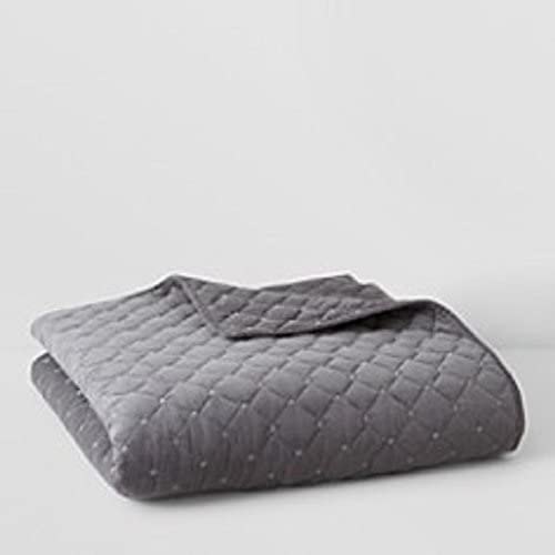 New arrival Oake Cameron Charcoal Grey Sale SALE% OFF Quilted Coverlet Queen