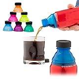 Miokycl Pájaros de la Bebida, 6 PCS Borrar Soda Can Papa Pueden Cubiertas para Las TRABAJES DE ENERGÍA DE CERVIENTÍN DE Soda Jugo, Color al Azar, Flexible, Duradero