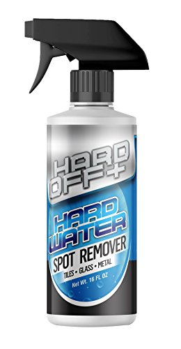Hard Off+ Hard Water Stain and Spot Remover for Bathroom, Shower Doors, Glass, Tile and Metal 16oz